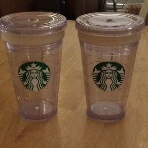 2 - 2011 Starbucks Cold Cup 16oz Insulated Tumbler